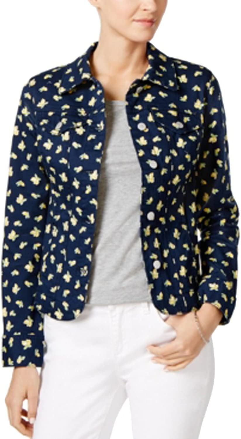 Charter Club Printed Denim Jacket