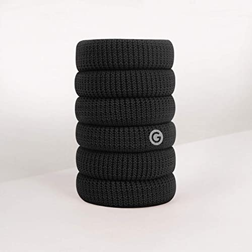GIMME Bands No Break Thick Hair Ties 6PC (Black Onyx)