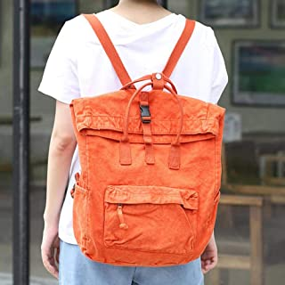 Women Backpack 2019 New Canvas Bags Totes Hasp Vintage Simple Harajuku Casual Style Large Capacity Multiple Colors Casual Backpack School Backpack Camera Backpack Travel Backpack,Orange