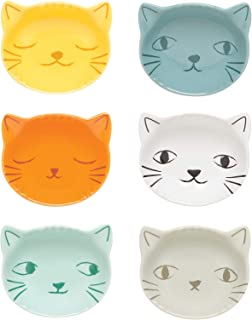 Now Designs Purrfect Cat Shaped Pinch Bowls, Set of 6