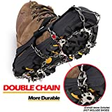 EnergeticSky Strap Type Crampons - 19 Teeth Claws Multi-function Anti-Slip Ice Cleat Crampons