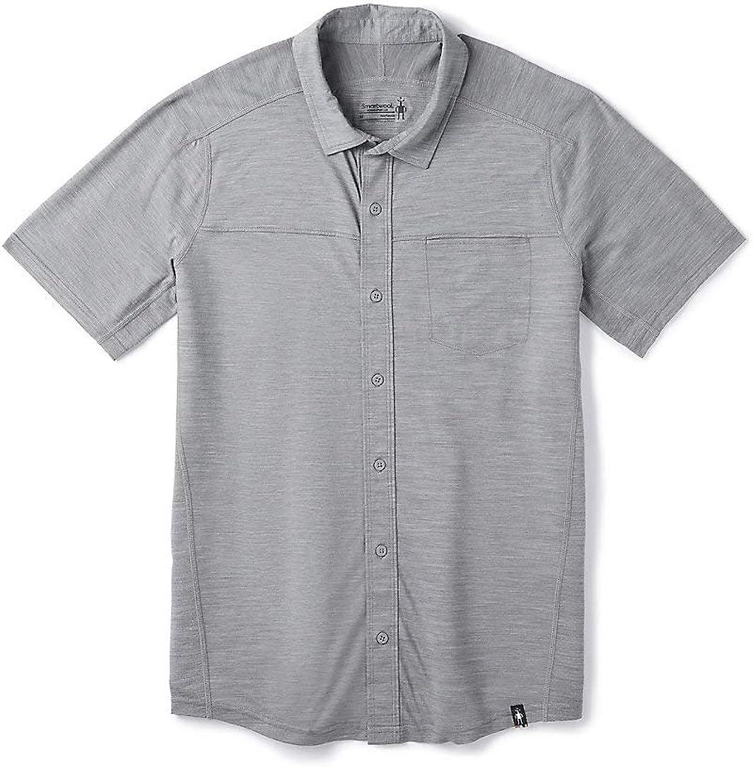 Smartwool Men's Merino Sport 150 Popular product Down Button Short Sleeve Spring new work
