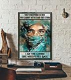 Enfermera de cartel de chapa de metal retro - Le susurraron que no puedes soportar la tormenta YO SOY la tormenta Ella susurró de nuevo, Arte de pared de vida de enfermera, Regalo del día de la e