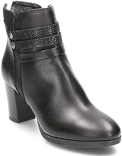 Stivaletti con tacco e pelle nera Igi&Co scarpe online