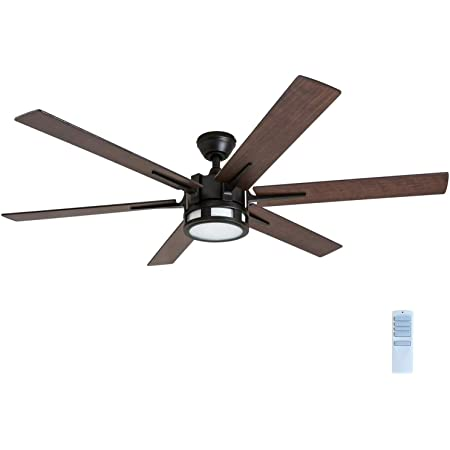 "Honeywell 51036 Kaliza Modern Ceiling Fan with Remote Control, 56"", Espresso"