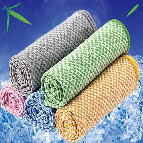 HelloCreate Toalla de Enfriamiento Toalla de Enfriamiento Rápido Transpirable Suave para Deportes Yoga Camping Running Fitness - Azul