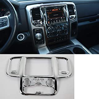 ,For Dodge Ram 2011-2017 Car Central Console GPS Navigation Panel Frame Trim Bezel Cover Styling New ABS Car Moldings
