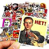Later Stalin Stalin URSS CCCP Rusia Segunda Guerra Mundial Serie Pegatinas Equipaje Pegatinas Impermeables 50 Uds