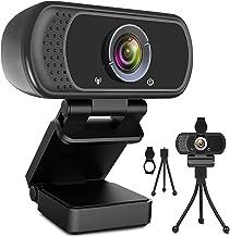 Webcam HD 1080p Web Camera, USB PC Computer Webcam with Microphone, Laptop Desktop Full HD Camera Video Webcam 110 Degree ...