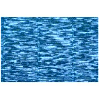 Premium Italian Heavy 180 g Sky Blue Crepe Paper Roll 13.3 sqft