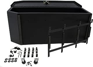 Carrichs 2007-2017 Jeep Wrangler JK (without Rear Side Sub Woofer) Tailgate Storage Box - Matte Black