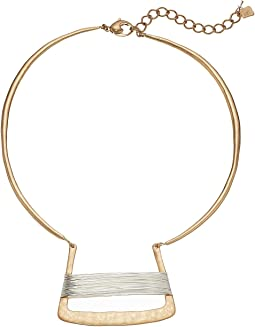 Robert Lee Morris - Two-Tone Wire Wrap Necklace