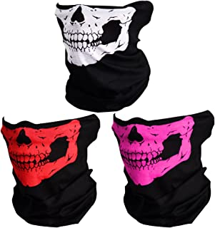 CIKIShield Couples Seamless Skull Face Tube Black...