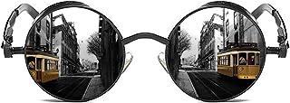 نظارات شمسية مستقطبة ROCKNIGHT Gothic Steampunk للرجال النساء نظارات شمسية بالأشعة فوق البنفسجية بإطار كامل معدني