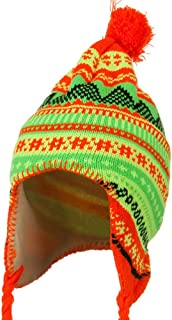 Lady Neon Ear Cover Knit Hat