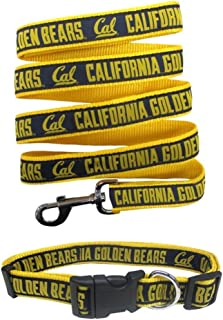 Pets First California State Berkeley Golden Bears Nylon Collar and Matching Leash for Pets (NCAA Official Size Small