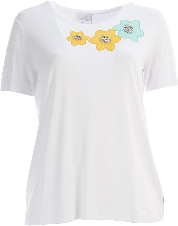 Marina Rinaldi Women's Vendita Embellished TShirt Large White