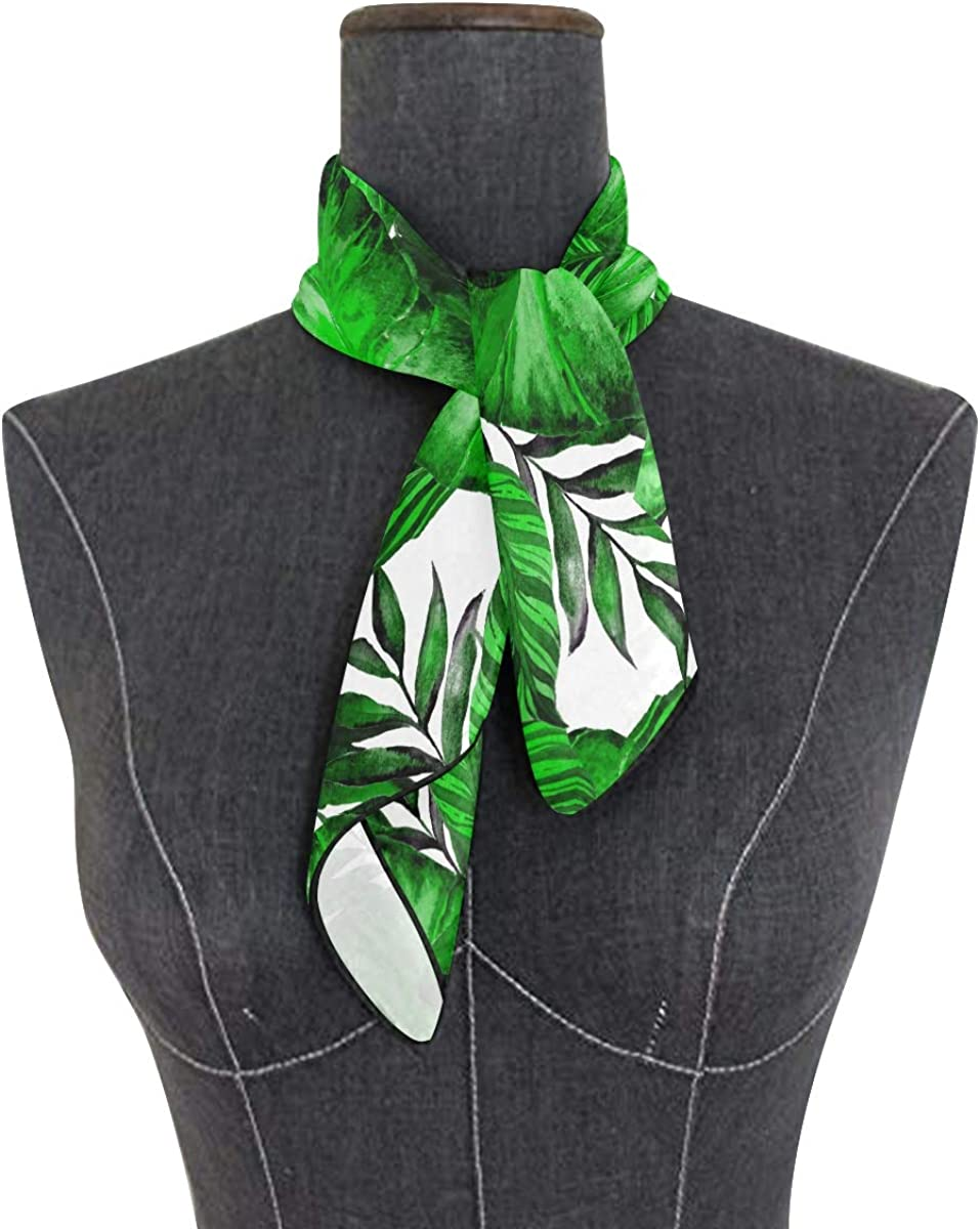 XLING Fashion Square Scarf Tropical Colorful Palm Leaves Print Lightweight Sunscreen Scarves Muffler Hair Wrap Headscarf Neckerchief for Women Men