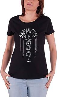 Babymetal T Shirt Skull Sword Band Logo 新しい 公式 レディーズ Skinny Fit