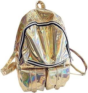 Kid Backpack New Fashion Gold/Silver School Travel Gym Shoulder Bag Backpack (Color : Gold)