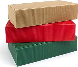Cajas de cartón para 2 botellas de champán/vino, 360 x 260 x 90 mm, sin depósito, 9 unidades, 3 colores: Amazon.es: Oficina y papelería