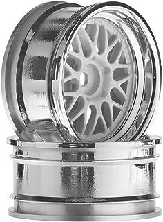 HPI Racing 106773 HRE C90 Wheel, 26mm Chrome/White, 6mm Offset (2)