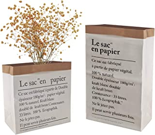 JJYHEHOT Small Kraft Paper Bags Vase for Flower Plant Home Decorations, Large Kraft Paper Bags Storage for Grocery, Food, Toy, Flowers