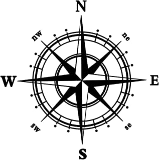 BooDecal Navigation Compass Wall Decals Stickers Decors for Living Room 24 inches x 24 inches