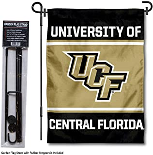 College Flags and Banners Co. Central Florida Knights Garden Flag with Stand Holder