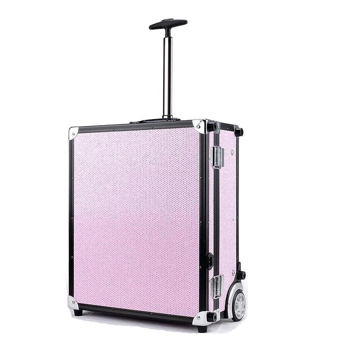 狼おもしろい慈悲深いBUMC 化粧トロリーケース、大きい化粧化粧列車、LEDライト付き、ダイヤモンドオーガナイザーボックス収納付きプロフェッショナル多層化粧品ケース