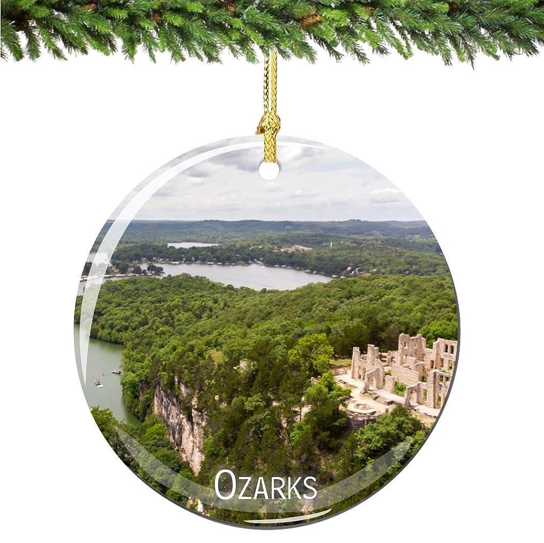 ズボン分割神経障害City-Souvenirs Ozarks クリスマスオーナメント 磁器 両面 2.75インチ