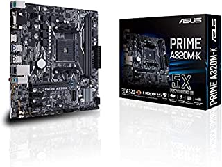 ASUS AMD AM4 uATX Motherboard,DDR4,AM4,A320M-K