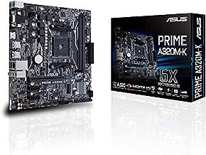 ASUS PRIME A320M-K Carte mère AMD AM4 uATX (DDR4 3200MHz, 32Gb/s M.2, HDMI, SATA 6Gb/s, USB 3.0)