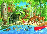 Ravensburger Woodland Friends 200 Piece Jigsaw Puzzle for Kids – Every Piece is Unique, Pieces Fit Together Perfectly
