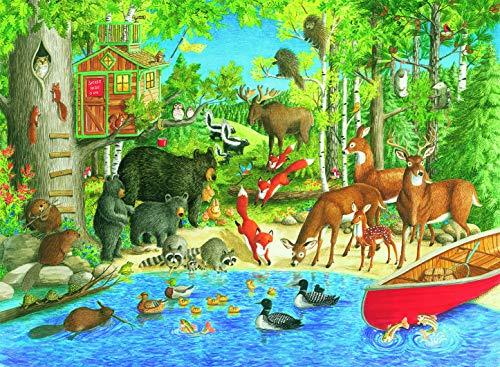 Ravensburger 12740 Woodland Friends Puzzle 200pc,Children's Puzzles