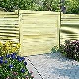 Festnight- Gartenzaun-Tor | Gartentor | Zauntor | Garten Holztor | Eingangstor | Grün Imprägniertes Kiefernholz 200/150/100 x 100 cm