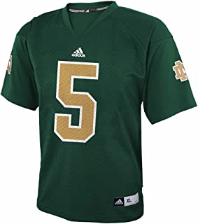 adidas Notre Dame Fighting Irish NCAA Youth Green Official Home #5 Football Jersey