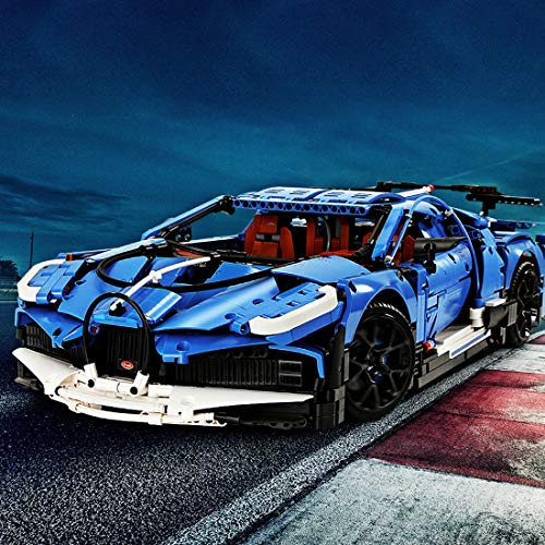 Mocdiy Bloques de construcción para coche deportivo Bugatti Divo, Mould King 13125, 1:8, 3858 piezas con bloques de sujeción, compatible con Lego Technic