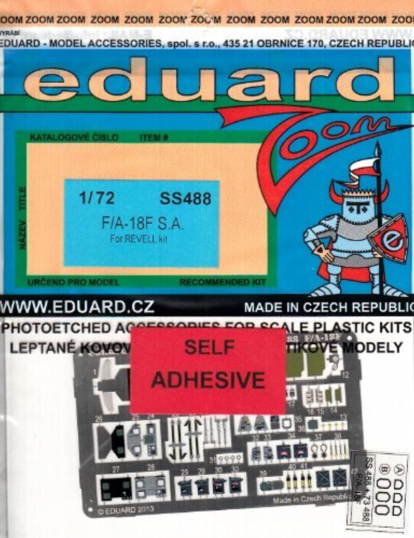 EDUSS488 1 72 Eduard color Zoom PE  F18F Super Hornet (for use with the Revell model kit) by Eduard