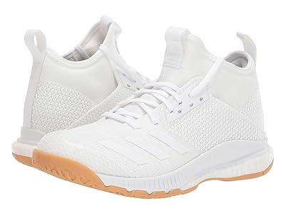 adidas Crazyflight X 3 Mid (Footwear White/Footwear White/Gum M1) Women