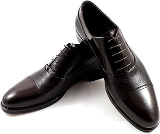 CANNERI Scarpe Stringate Uomo - Marrone Scuro - 8432 - Captoe Oxford - Scarpa Classica da Lavoro in Pelle dal Design e dal...