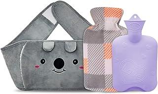 کیسه آب گرم ، بطری آب گرم لاستیکی با پوشش کمر برای گرفتگی قاعدگی ، تسکین درد ، کیسه آب گرم با پوشش گرمکن کمر دست مخمل خواب دار