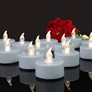 Tappovaly Tea Lights,24 Pack Flameless LED Candles Battery Operated Tea lights Candles Long Lasting Tealight for Wedding H...
