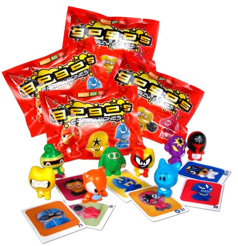 GoGo's Crazy Bones - Series 1 - (4 Packs of 3 Pieces) by GoGo's Crazy Bones