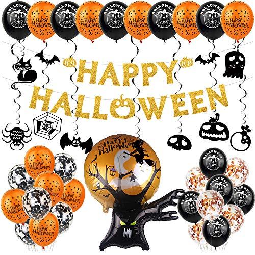 Halloween Decoration Party Banner Kit Halloween Paper Garlands for Halloween Bar Home Decor Supplies 10Pcs
