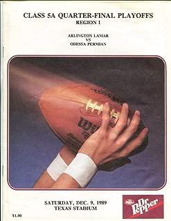 1989 Texas High School Football Program Arlington Lamar v Odessa Permian 49610