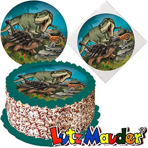 Tortenaufleger * Dinosaurier & T-REX * für (Lieblings-) Torten und Kuchen von Lutz Mauder   10317   Kinder Geburtstag Kindergeburtstag Kinderparty Party Kuchen Torte