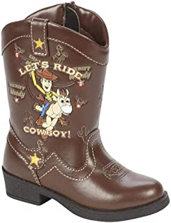 Disney Pixar Toy Story Toddler Boys Light Up Woody Cowboy Boots