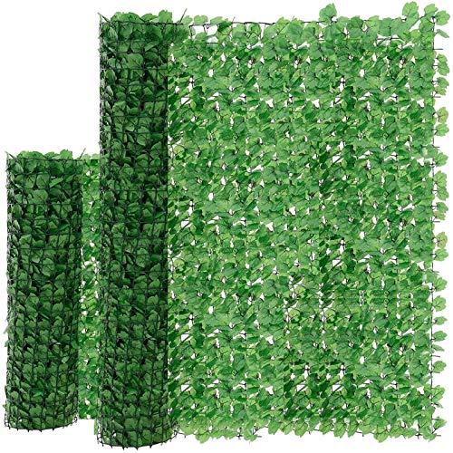 JUEYAN 100 x 300 cm Sichtschutzzaun Grün Gartensichtschutz Kunststoff Sichtschutzmatte Windschutz Sichtschutz Verkleidung für Balkon (300 x 100 cm)