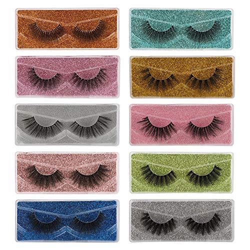 False Eyelashes Wholesale 30 Pack 10 Styles Natural 3D Faux Mink Lashes Bulk with 30 Portable Boxes